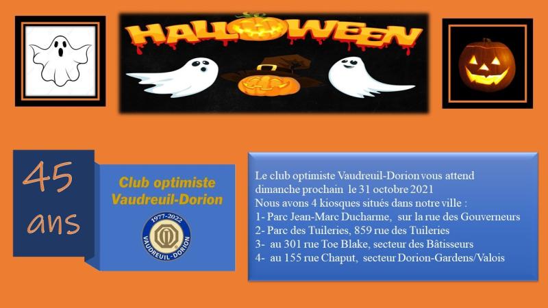 Halloween 2021 - club optimiste Vaudreuil-Dorion