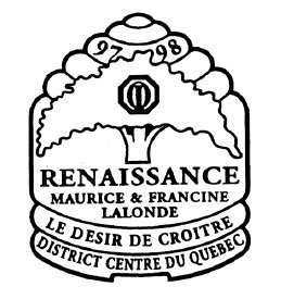 Année 1997-1998 Thème: Exceller avec Fierté, gouverneur Roland Trottier et Claudette.
